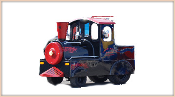 A trackless train for childrens events